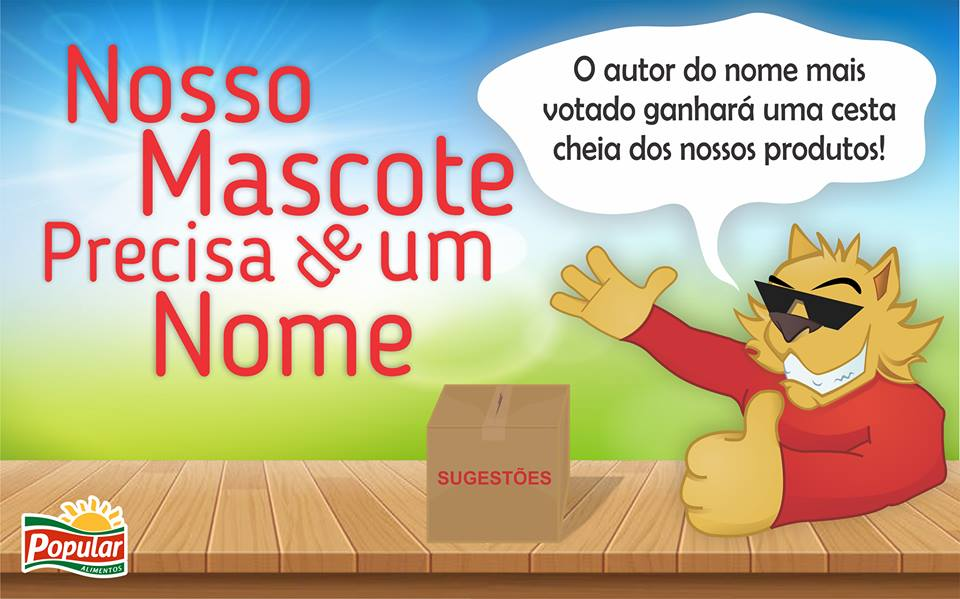Regulamento Concurso ¨Escolha O Nome Do Mascote Da Popular Alimentos